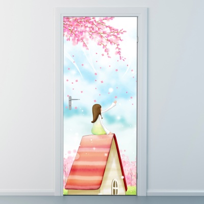nces258-핑크빛세상-현관문시트지