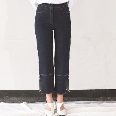 Side Slit Denim Pants (NA)