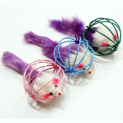 와이어볼 쥐 색상랜덤 반려묘 장난감 놀이