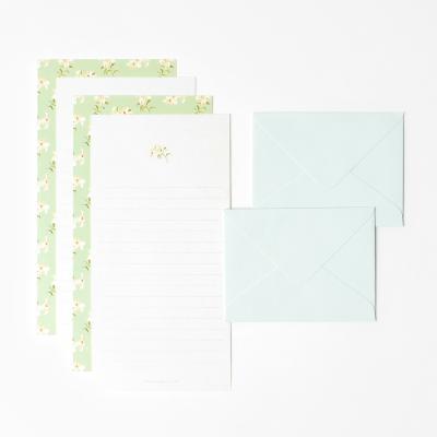 프레그런트 미니 편지지 세트 - White lily