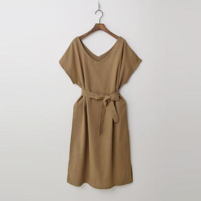 Double Linen V-Neck Dress