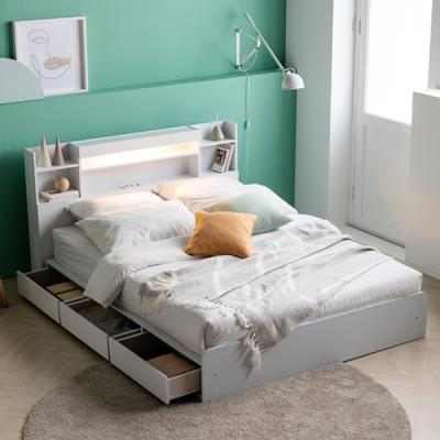 아르메 레이첼 LED 수납형 침대 Q_밸런스 투인스 매트