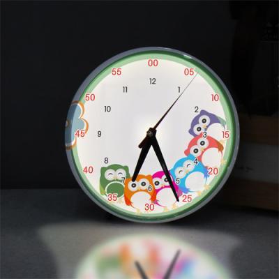 ng273-LED시계액자25R_귀여운아기부엉이캐릭터