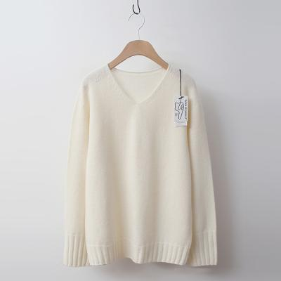 Maille Cashmere Wool V-Neck Sweater