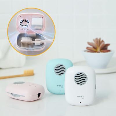 무선 휴대용 UVC LED 칫솔 살균기 + 5분 건조기 2IN1