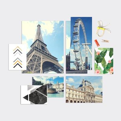 홈갤러리 포토카드 25P세트 3종 유럽/그리너리/모노톤