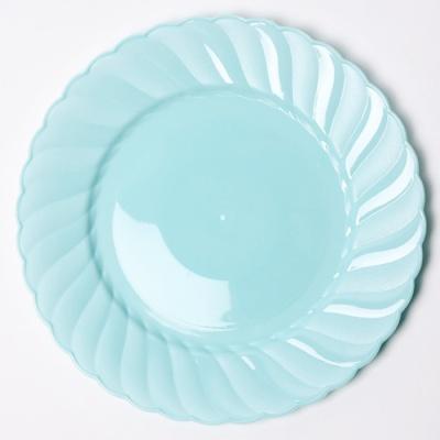 칼라 파티접시 라운드 23cm-민트(6입)