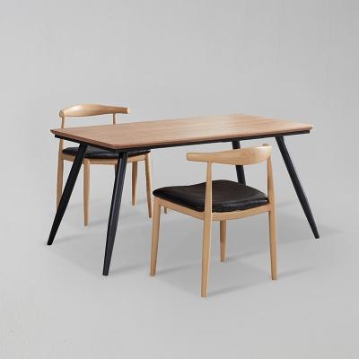 쿠니 무늬목 식탁 세트B 1400 + 의자 2개포함 (착불)