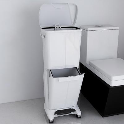 가정용 2단 분리수거함 대용량 쓰레기통