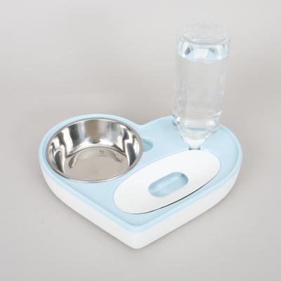 반자동 하트 더블 식기 (블루)