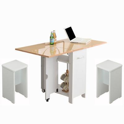 뉴600 하이그로시 접이식테이블+의자2개 2-4인용식탁