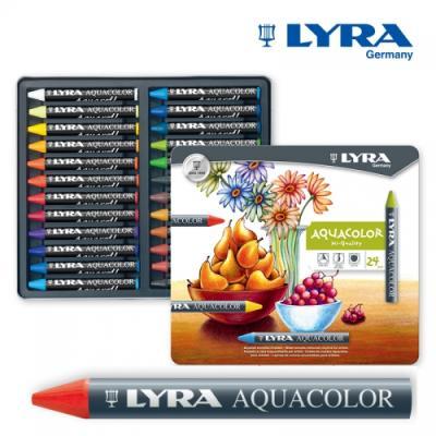 LYRA - 리라 아쿠아칼라 수채크레용 24색 / 컬러링
