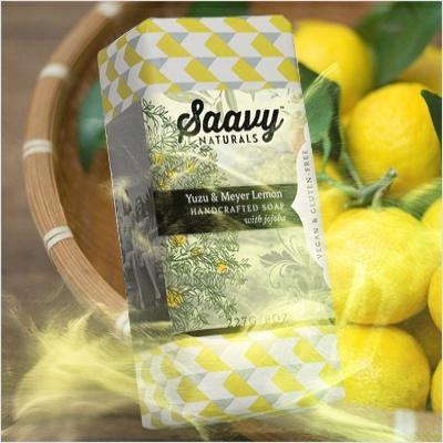 [Saavy] 네추럴&오가닉 바 솝 유자&메이어 레몬