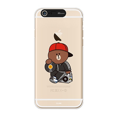 iPhone6/iPhone6+ LINE FRIENDS BROWN DJ Light UP Case