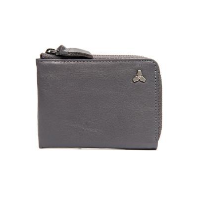 [코앤크릿] 17WTA0202G01GR 트리포드 엣지 지퍼 카드지갑 그레이