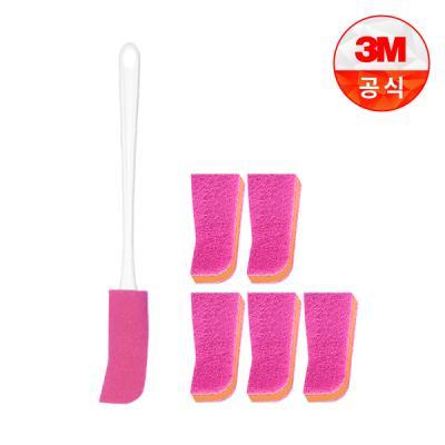[3M]플라스틱병용 보틀 수세미(핸들 1입+리필 1입)+리필 1입 5개