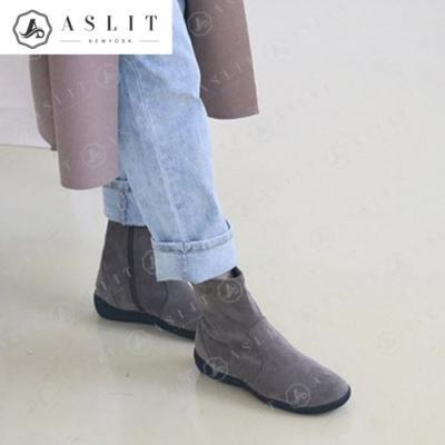 [애슬릿]여성 스웨이드 통굽 앵클 부츠 4cm