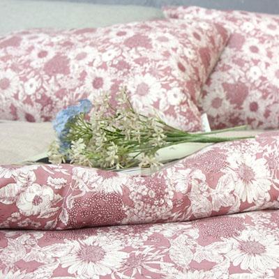 해바라기 멜란 양면이불커버 - 핑크