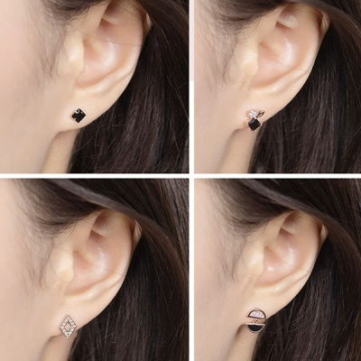 미니골드 귀걸이 4종세트 : 네모의 주얼리 꿈