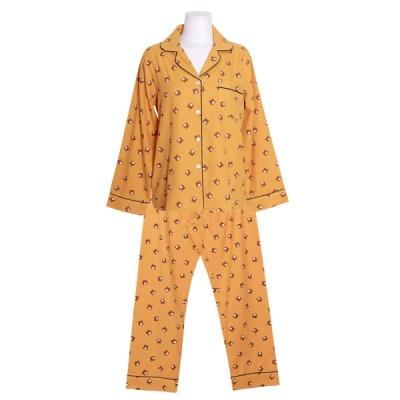 [쿠비카]곰돌이 프린팅 코튼 투피스 여성잠옷 W800