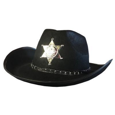 보안관 모자 (블랙)