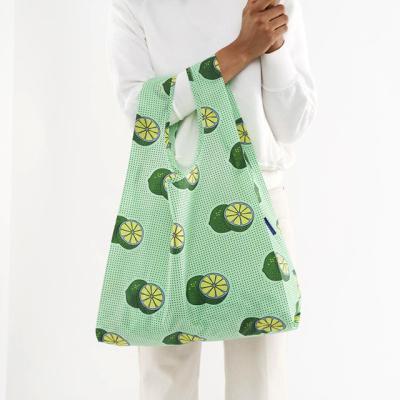 [바쿠백] 휴대용 장바구니 시장가방 Green Lime