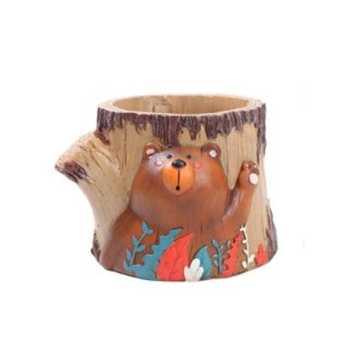 ROOGO 루고화분 곰돌이 뒷동산 웰컴곰