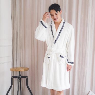 [쿠비카]포근한 촉감 레이스 남성 타월가운 BNBR-M075