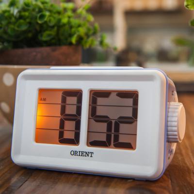 오리엔트 플립형 OT1561 바이올렛 알람 디지털시계
