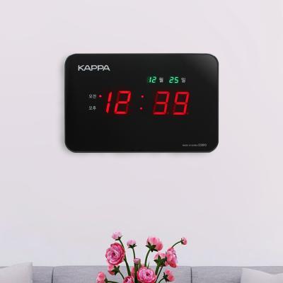 카파 D2810 고휘도 슈퍼 RED LED 디지털벽시계 블랙
