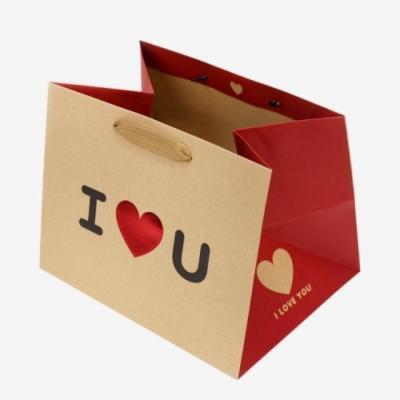 포포팬시 심쿵 크라프트 종이 쇼핑백