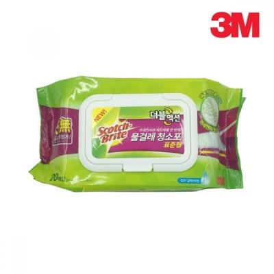 3M 물걸레 청소포 더블액션 표준형 20매