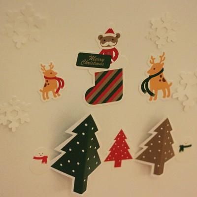 크리스마스 월데코 카드 세트