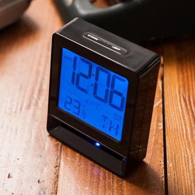 넥서스 K006104B 온도표시 알람 무드등 디지털시계