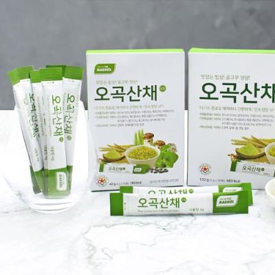 [오곡산채] 영양있는 밥상 가루 (4gx10포)x2박스
