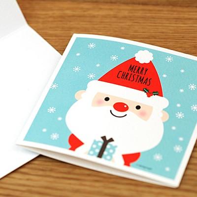 [기성]크리스마스카드산타와친구들