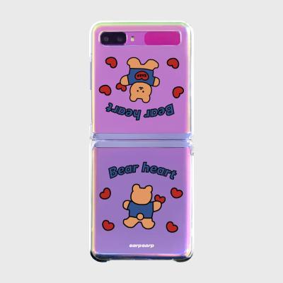 Love bear heart-original(Z플립-투명하드)