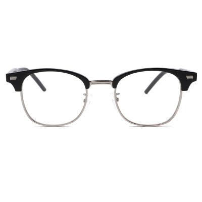shine 블랙 실버 반뿔테 안경 뿔테 패션안경 안경테