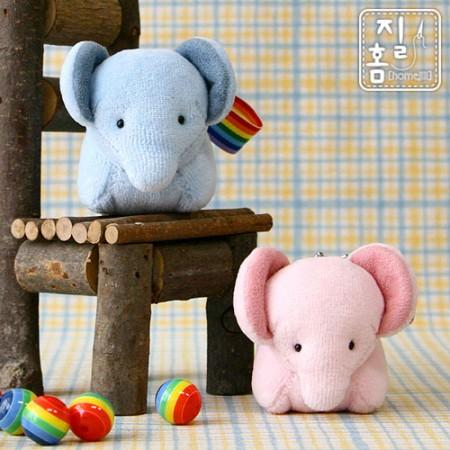 [DIY]당나귀귀 코끼리 커플핸드폰줄 만들기