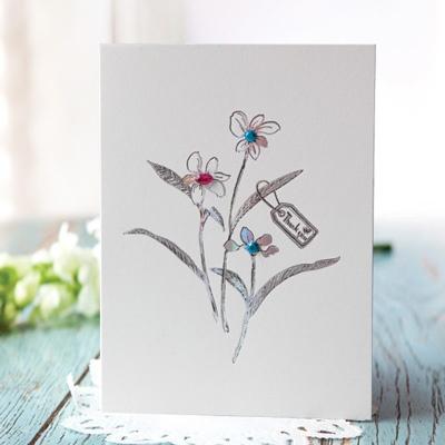 나리 꽃 카드 FT1037-5