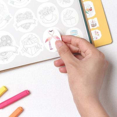 스티커 컬러링북 세트2 (컬러링+젤펜10본)