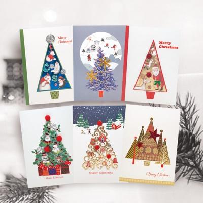 FS1030 Set(6종) 크리스마스카드,트리,산타,성탄절