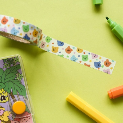 Jelly bear masking tape 01-04