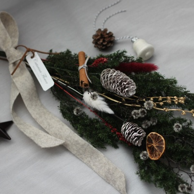 프리저브드 크리스마스 벽걸이 스와그 리스