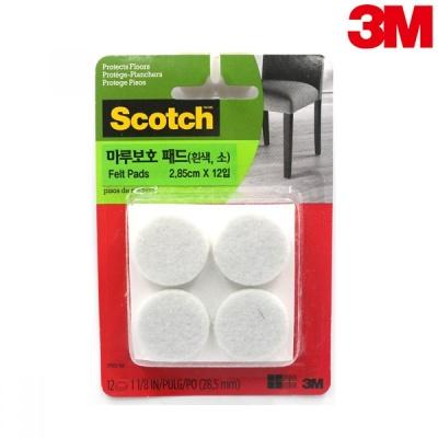 3M 스카치 마루보호 패드 원형(흰색, 소) SP851-NA