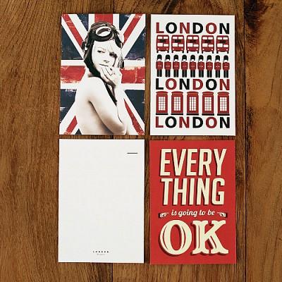 엽서-런던레드 London Red (3 SHEET)