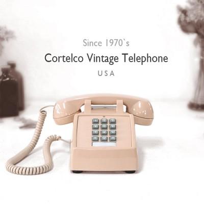 [코텔코] Made in USA 코텔코 빈티지 데스크 유선전화기 연핑크