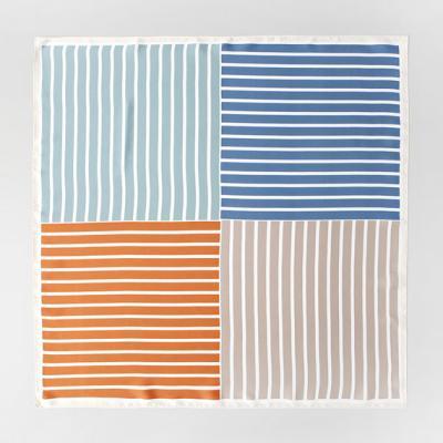 Stripe Square Petit Scarf