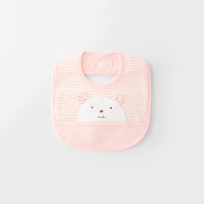 [메르베] 곰돌이W 아기턱받이/침받이_사계절용