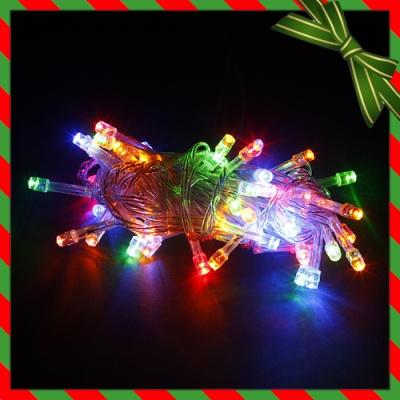 50구 투명선 LED 칼라전구(5M) (점멸有) (90cm트리용)